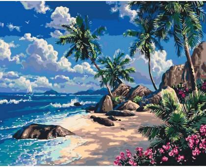 Картина по номерам Дальний пляж