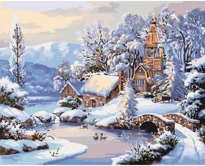 Картина по номерам Зимнее утро