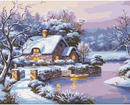 Картина по номерам Сказочная зима