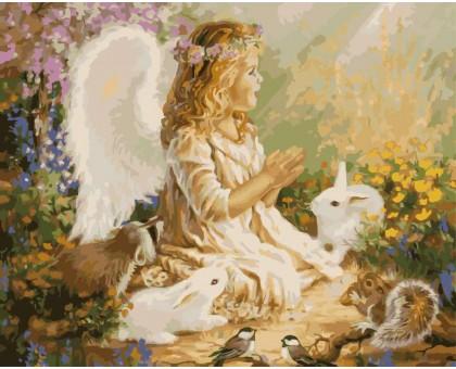 Картина по номерам Ангелочек в лесу