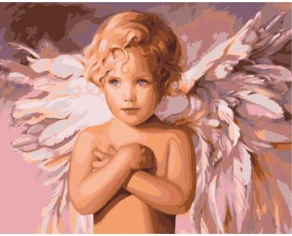 Раскраска по номерам Голубоглазый ангел