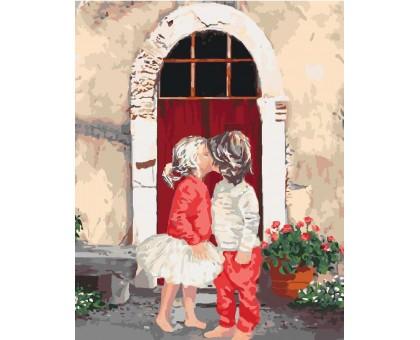 Картина по номерам Первый поцелуй