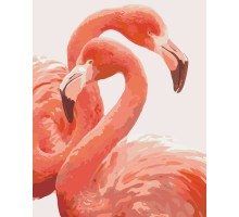 Картина по номерам Грация фламинго