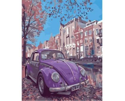 Картина по номерам Фиолетовое авто