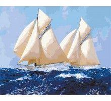 Картина по номерам Белоснежные паруса
