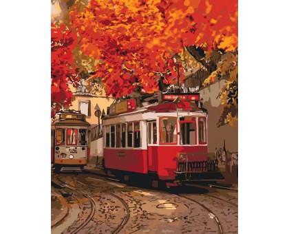 Картина по номерам Яркие краски осени