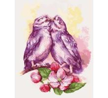 Картина по номерам Влюбленные совушки