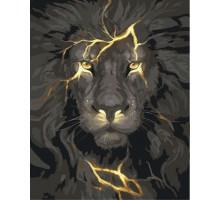 Картина по номерам Грозовой лев