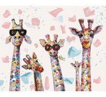 Картина по номерам Веселые жирафы
