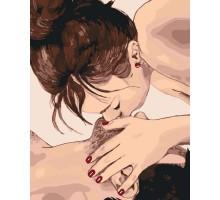 Картина по номерам Нежный поцелуй