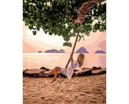 Раскраска по номерам Качеля на пляже