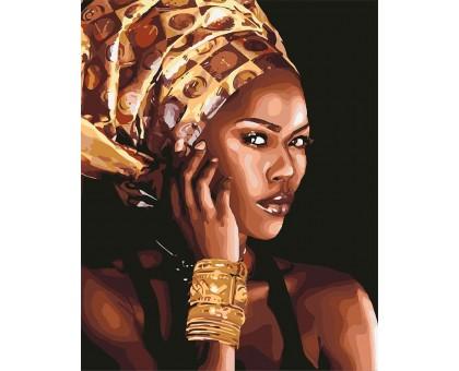 Раскраска по номерам Африканская мода