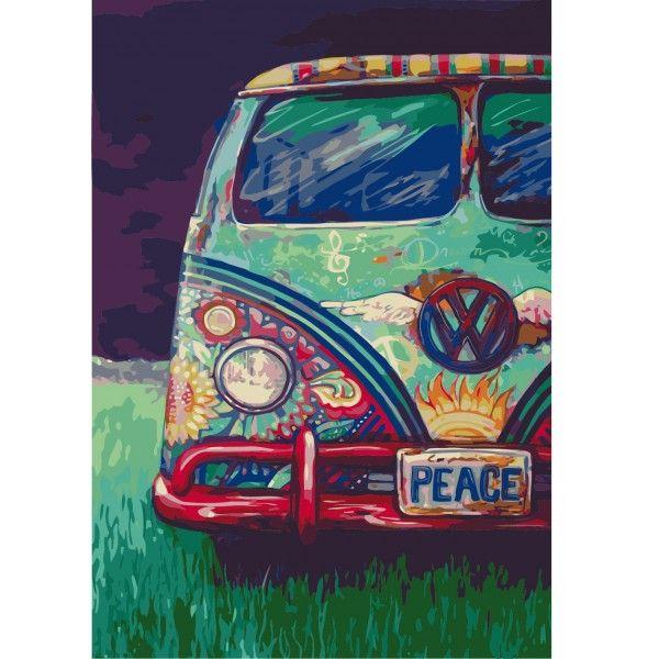 Картина по номерам Фургончик хиппи