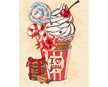 Картина по номерам Вишневое мороженко