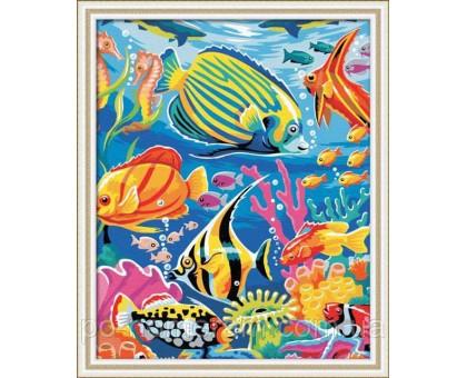 Картина по номерам Рыбный мир
