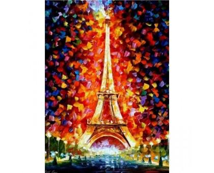 Раскраска по номерам Эйфелева башня