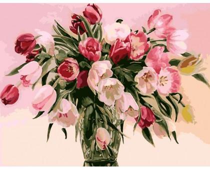 Картина по номерам Тюльпаны в вазе