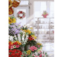 Картина по номерам Букеты в цветочном магазине
