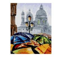 Картина по номерам Зонтики