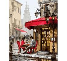Раскраска по номерам Лондонское кафе