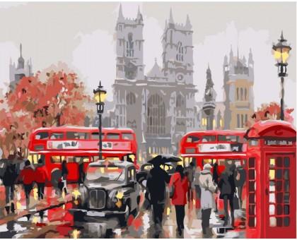 Картина по номерам Дождливый Лондон