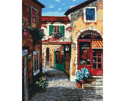 Картина_Раскраска по номерам Прибрежный городок