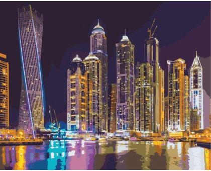 Картина по номерам Ночной Дубай