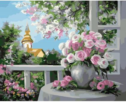 Раскраска по номерам Шарм цветущего сада
