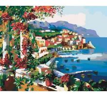 Картина по номерам Балкон увитый виноградом