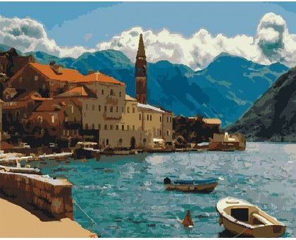 Картина по номерам Побережье Черногории