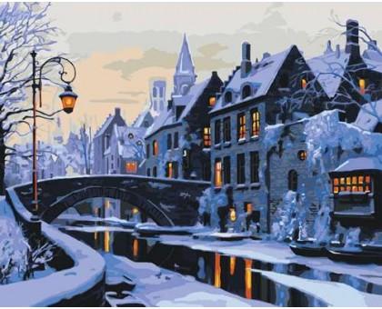 Картина по номерам Прогулка по ночному городу
