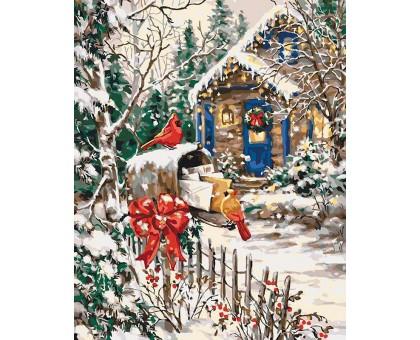 Раскраска по номерам Зимняя сказка