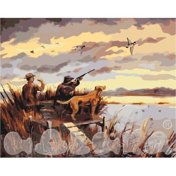 Картина по номерам Охота на уток (Без коробки)