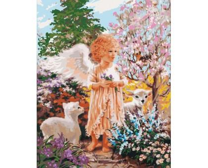 Картина по номерам Ангелок с овечками