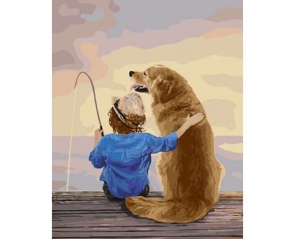 Картина по номерам Рыбалка с другом