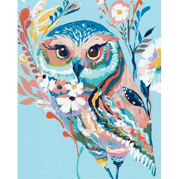 Картина по номерам Очаровательная сова