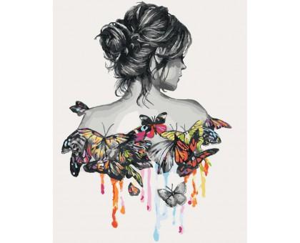 Картина по номерам В окружении бабочек