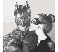 Картина по номерам Поцелуй кошки (Без коробки)