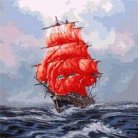 Раскраска по номерам Алые паруса