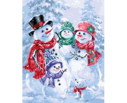 Картина по номерам Снеговички