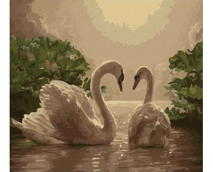 Картина по номерам Любовь (лебеди)