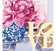 Картина по номерам Love