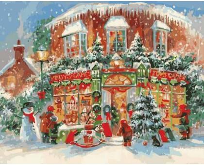 Картина по номерам Рождественский городок
