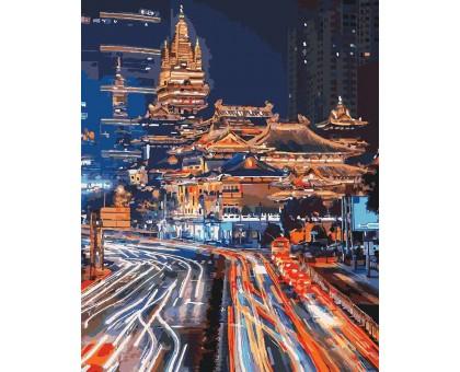Картина по номерам Ночной Шанхай