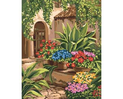 Раскраска по номерам Чудесный дворик