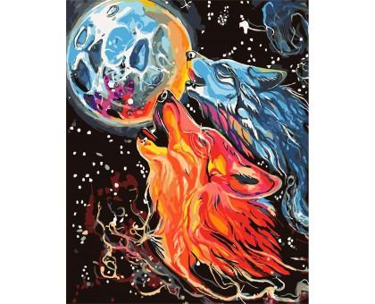 Картина по номерам Космические волки