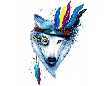 Раскраска по номерам Белая волчица