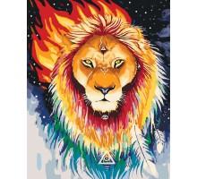 Картина по номерам Огненный лев