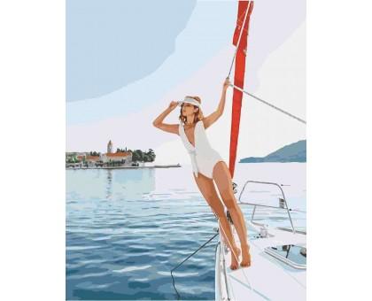 Картина_Раскраска по номерам Прогулка на яхте