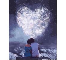 Картина по номерам Влюбленные сердца